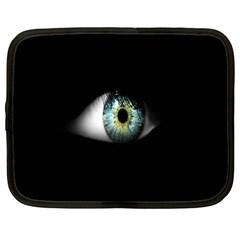 Eye On The Black Background Netbook Case (Large)