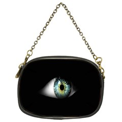 Eye On The Black Background Chain Purses (one Side)