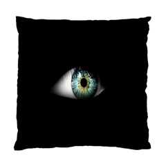 Eye On The Black Background Standard Cushion Case (one Side)