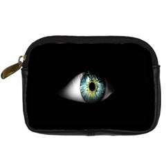 Eye On The Black Background Digital Camera Cases