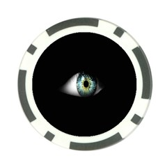 Eye On The Black Background Poker Chip Card Guard (10 Pack)