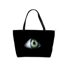 Eye On The Black Background Shoulder Handbags