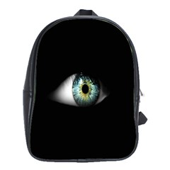 Eye On The Black Background School Bags(Large)