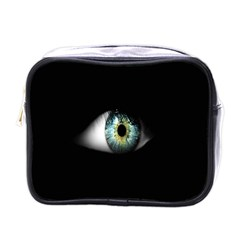 Eye On The Black Background Mini Toiletries Bags