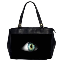 Eye On The Black Background Office Handbags (2 Sides)
