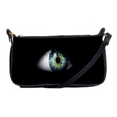 Eye On The Black Background Shoulder Clutch Bags