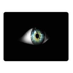 Eye On The Black Background Fleece Blanket (Small)