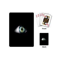 Eye On The Black Background Playing Cards (mini)