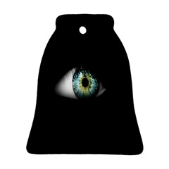 Eye On The Black Background Ornament (Bell)