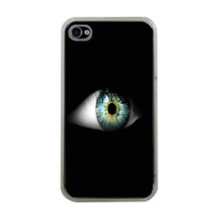 Eye On The Black Background Apple iPhone 4 Case (Clear)