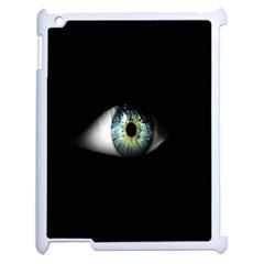 Eye On The Black Background Apple iPad 2 Case (White)