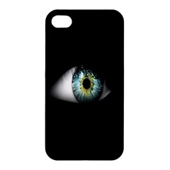 Eye On The Black Background Apple Iphone 4/4s Hardshell Case