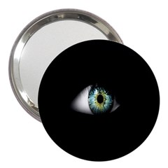 Eye On The Black Background 3  Handbag Mirrors