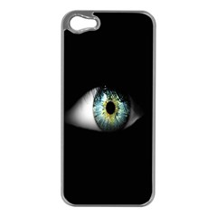 Eye On The Black Background Apple Iphone 5 Case (silver)