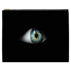 Eye On The Black Background Cosmetic Bag (xxxl)