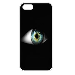 Eye On The Black Background Apple iPhone 5 Seamless Case (White)
