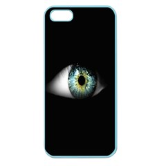 Eye On The Black Background Apple Seamless iPhone 5 Case (Color)