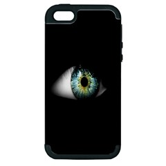 Eye On The Black Background Apple iPhone 5 Hardshell Case (PC+Silicone)