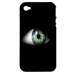 Eye On The Black Background Apple Iphone 4/4s Hardshell Case (pc+silicone)
