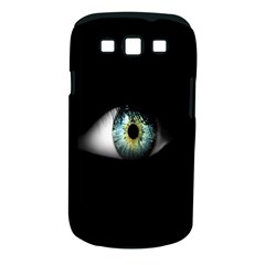 Eye On The Black Background Samsung Galaxy S Iii Classic Hardshell Case (pc+silicone)