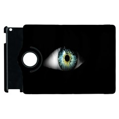 Eye On The Black Background Apple iPad 2 Flip 360 Case