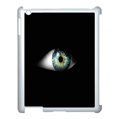Eye On The Black Background Apple iPad 3/4 Case (White)