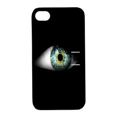 Eye On The Black Background Apple iPhone 4/4S Hardshell Case with Stand