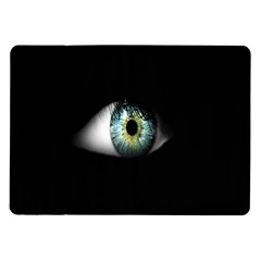 Eye On The Black Background Samsung Galaxy Tab 10 1  P7500 Flip Case