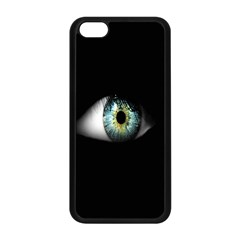 Eye On The Black Background Apple iPhone 5C Seamless Case (Black)