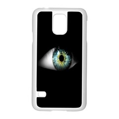 Eye On The Black Background Samsung Galaxy S5 Case (White)
