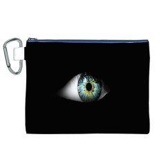 Eye On The Black Background Canvas Cosmetic Bag (xl)