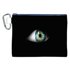 Eye On The Black Background Canvas Cosmetic Bag (XXL)