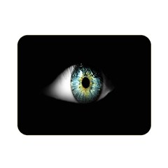 Eye On The Black Background Double Sided Flano Blanket (Mini)