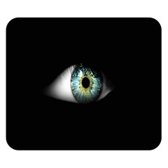 Eye On The Black Background Double Sided Flano Blanket (Small)