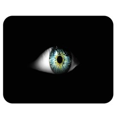 Eye On The Black Background Double Sided Flano Blanket (Medium)