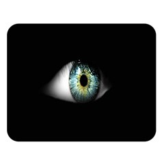 Eye On The Black Background Double Sided Flano Blanket (Large)