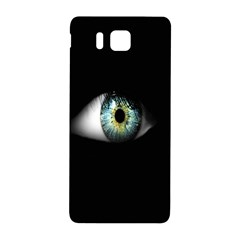 Eye On The Black Background Samsung Galaxy Alpha Hardshell Back Case