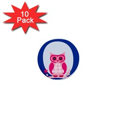 Alphabet Letter O With Owl Illustration Ideal For Teaching Kids 1  Mini Buttons (10 pack)