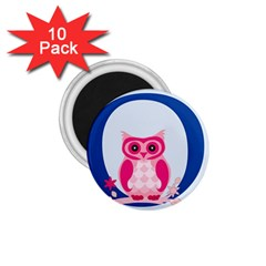 Alphabet Letter O With Owl Illustration Ideal For Teaching Kids 1.75  Magnets (10 pack)