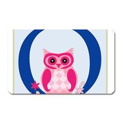 Alphabet Letter O With Owl Illustration Ideal For Teaching Kids Magnet (Rectangular)