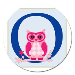 Alphabet Letter O With Owl Illustration Ideal For Teaching Kids Magnet 5  (round)