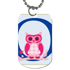 Alphabet Letter O With Owl Illustration Ideal For Teaching Kids Dog Tag (Two Sides)