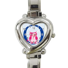 Alphabet Letter O With Owl Illustration Ideal For Teaching Kids Heart Italian Charm Watch