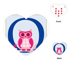 Alphabet Letter O With Owl Illustration Ideal For Teaching Kids Playing Cards (heart)