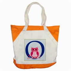 Alphabet Letter O With Owl Illustration Ideal For Teaching Kids Accent Tote Bag