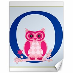 Alphabet Letter O With Owl Illustration Ideal For Teaching Kids Canvas 18  x 24