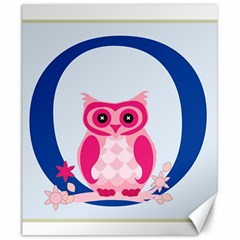 Alphabet Letter O With Owl Illustration Ideal For Teaching Kids Canvas 20  x 24