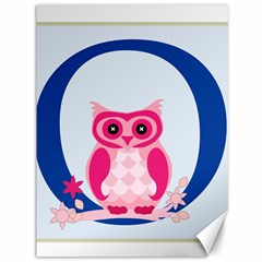 Alphabet Letter O With Owl Illustration Ideal For Teaching Kids Canvas 36  x 48
