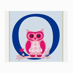 Alphabet Letter O With Owl Illustration Ideal For Teaching Kids Small Glasses Cloth (2 Side)