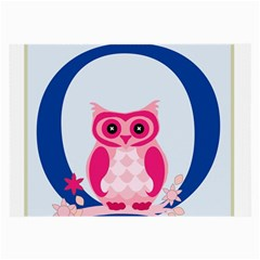 Alphabet Letter O With Owl Illustration Ideal For Teaching Kids Large Glasses Cloth (2-Side)